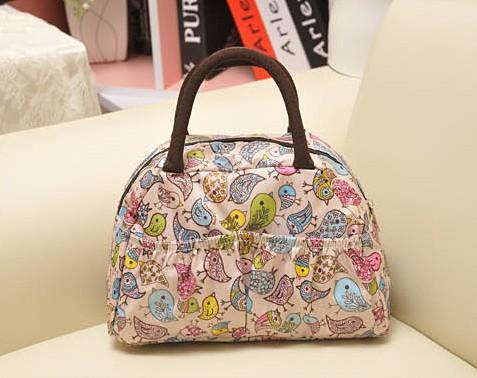 Waterproof printing fashion lunch bags, leisure bag ladies handbag handbag tote boxes low packet FREE SHIPPING(China (Mainland))