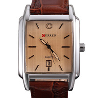 Curren watches men quartz Japan movement 3ATM business military watch genuine leather strap watches relogio calendar hours clock