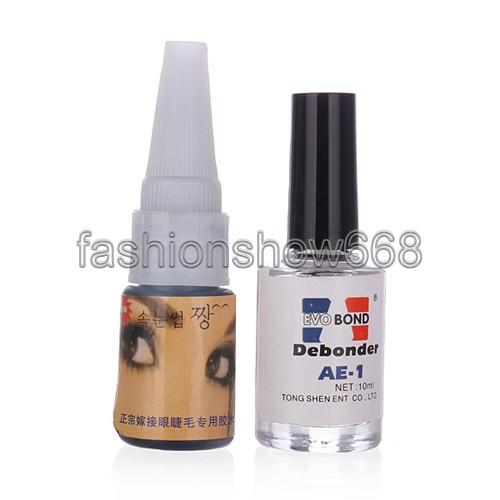 Professional False Eyelash Adhesive Extensions Glue and Remover Makeup Tools Set Kit Free Shipping(China (Mainland))