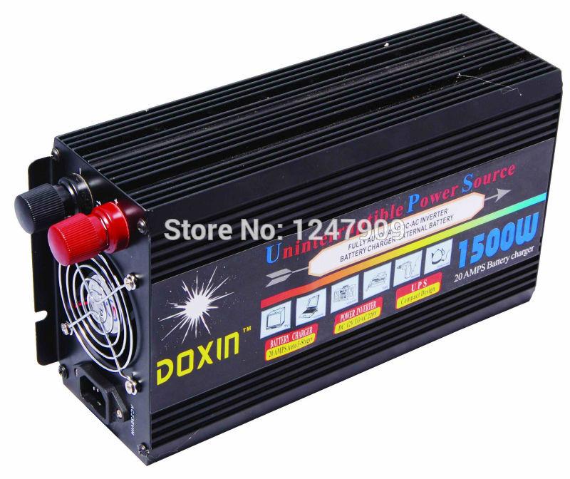 1500Watt 3000Watt (peak) 12V  to 220V Modified Sine Wave Power Inverter +Charge&UPS,Quiet and Fast Charge(China (Mainland))
