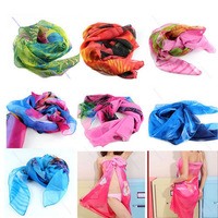 Free Shipping Sexy Women Chiffon Wrap Pareo Dress Sarong Beach Bikini Swimwear Cover Up Scarf-PY