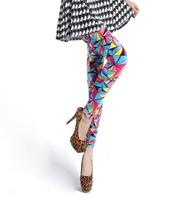 New 2014 fashion tutuanna style cheap galaxy geometric print stretch slim jegging for women