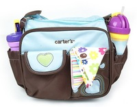 free shipping retail mother bag  small carter 's mummy bag embroidered heart nappy bag adjust diaper bags