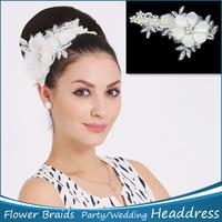 New 1pc Hair Accessories Flower Braided Flowers Hair Bridal Headdress Wedding Flower Garland Bridal Free Shipping