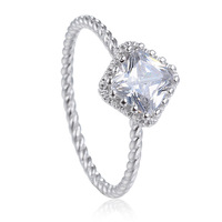 Hot New Design Fashion Plated Zircon Crystal Rings Jewelry !High-quality Women Jewelry Free Shipping