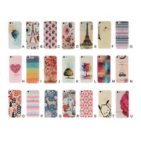 10pcs Fashion New Flesh Colorful/Lovely Pattern Design case with Transparent Age for iPhone 5 5s 21 picture in stock