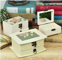 American country retro nostalgia wooden jewelry Storage box jewelry decoration 4 designs free shipping