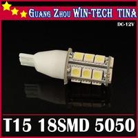 4pcs/Lot T15 18SMD 5050 led bulb car canbus Car Interior Lamp 18SMD 5050 led Bulb lamp12V