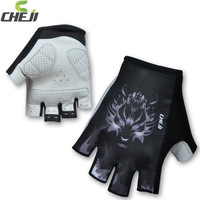 Half Finger Ghost Wolf Style cycling gloves can custom For men bike riding  gel padding gloves Size S-XL
