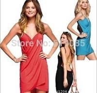 Hot Sale New 2014 Summer Women Dress Beach Dress Bohemia Swimwear Pareo Beach Wear Beach Cover Up Y6