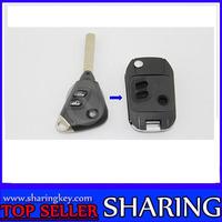 Remodeling Flip Remote Key For Subaru 2+1 Button Flip Key Shell(5Pcs/Lot)