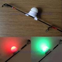 Free Shipping 2 Size in 1 Night Fishing Rod Tip Clip on Fish Bite Alarm Alert Strike Light New-PY