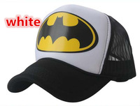 Free Shipping Batman truck cap Cartoon mesh hat Sun hats Snapbacks caps, hat circumference 55--60cm 2 color