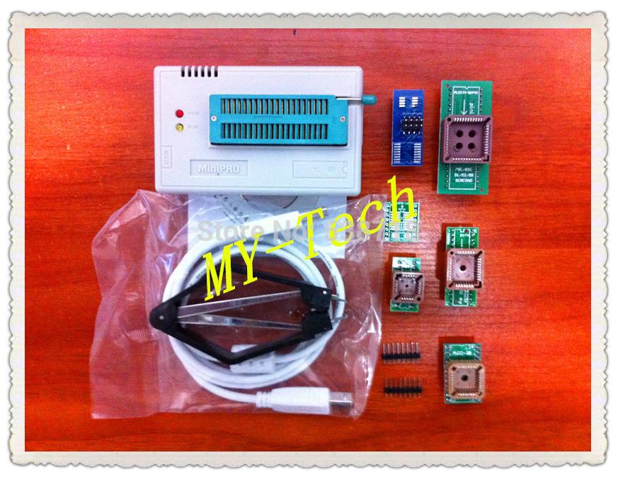 Free Shipping! Russian Manual MiniPro TL866CS USB Universal Programmer/PIC Programmer+7items plcc44/32/28/20 SOP8&16+13701chips(China (Mainland))