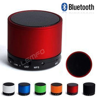 Metallic Wireless Bluetooth Speaker Color Portable Mini Outdoor Subwoofer for iPhone iPad Mp3 Samsung with Handsfree Microphone