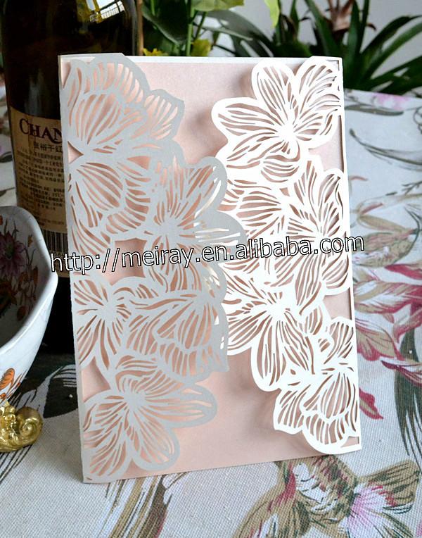 """2014 presentes primeira comunhão """" Big Flowers """" do convite personalizado cartões de Mery artesanato(China (Mainland))"""