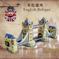 Fashion Tower Bridge design boy girls 3D puzzle children kid Mosaic toys DIY toy Famous buildings puzzles Construction NO.689-B