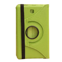 500pcs/lot Fashion Litchi grain 360 degree rotating leather protective cover case for samsung galaxy Tab4 7.0 T230,case for tab4