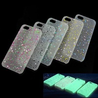 Free Shipping 1PC Luminous Glow in The Dark Case Cover Skin For Apple iPhone 5G 5S-PY