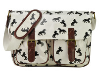 Free Shipping High Fashion Usual Shoulder Bag With Horses Galloping Print  Women's Bag QQ1871