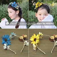 Artificial flower garland New fashion flowers Girl children wreath headband Wedding Bridal hairband accessories!Free shipping N4