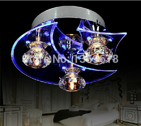 2014 New LED Modern Crystal Ceiling Lights 3-light Use for living room/Bedroom D24*H12CM(China (Mainland))