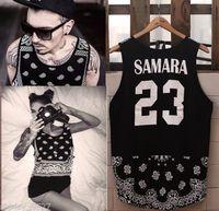Mens HipHop Tank Top Paisley Bandana Graphic T Shirt Tee Sleeveless Vest No.23