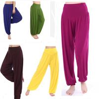 Free Shipping 2014 new fashion Women Yoga Pants Pilates Workout Pants Comfy Loose Sportswear Casual Home Wear Lounge Trousers