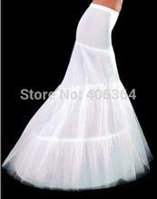 2014 el envío gratuito colección enagua 2 aros sirena blanca del vestido de boda de la crinolina Slip barato y de buena calidad accesorios(China (Mainland))