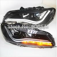 For VW Passat B7 North American version LED Head Lamp Angel Eyes 2011-2014
