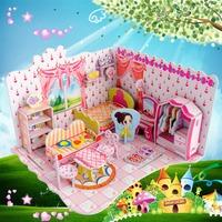 Fashion Tower Bridge design boy girls 3D puzzle children kid Mosaic toys DIY toy Girls room puzzles Cartoon NO.690B