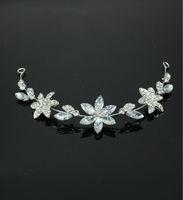Free Shipping Vintage Flower Bridal Headpiece For Wedding Beautiful Clear Crystals Wedding Bridal Tiara/ Headpiece/ Headband