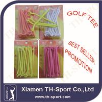 unique different colors rubber plastic golf tee