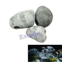 1PC Small Rock Cave Ceramic Stone Decoration For Cichlids Fish Tank Aquarium(China (Mainland))