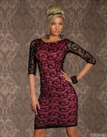 2014 New Star Of The Same Paragraph, Summer Dress Long Sleeve Black Lace Dress, Sexy Dresses Restoring Ancient Ways
