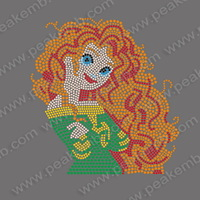 Free Shipping 2014 New Sexy Afro Girl Rhinestone Motif Custom Heat Transfer Iron On Supplier In China 30 Pcs/Lot