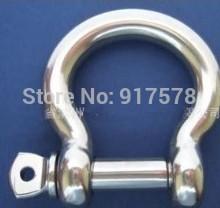 Paracord Bracelets EUROPEAN TYPE BOW SHACKLE M4*20pcs STAINLESS STEEL 316 marine/boat hardware(China (Mainland))