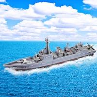 Fashion Tower Bridge design boy girls 3D puzzle children kid Mosaic toys DIY toy Warship ship  puzzles Military  NO.676