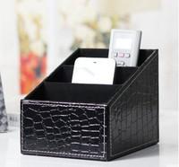 Unique leather storage boxes home decoration,personal black red white color european boxes
