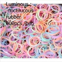 30bags/lot Luminous effect of protein luminous noctilucous Loom rubber bands DIY loom kit Band bracelet material 1bag(600pcs)
