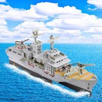 Fashion Tower Bridge design boy girls 3D puzzle children kid Mosaic toys DIY toy Warship ship  puzzles Military  NO.688C