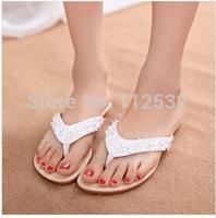 2014 new style summer women lovely flip flops.Cartoon cute fashion flowers beach sandals,flat shoes,girl slippers