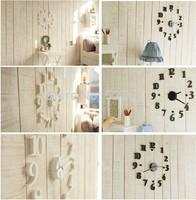 1pc/lot New Art Modern Design Home Decor Wall Clock Interior Decoration Clock