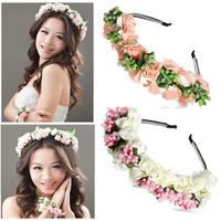 2pcs/lot fashion flower crown wedding headband hair bands hair accessories for women wedding girls bridal headwear hair jewelry