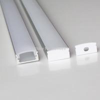 20pcs a lot, 1m per piece anodized aluminum profile extrusion for led flexible strips light