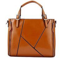 2015 new style women genuine leather shoulder bag fashion women handbag patchwork tote women messenger bag cowhide crossbody bag