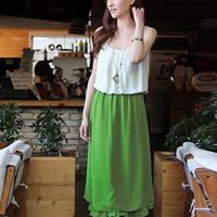 ( Special ) 2014 Korean version of the new women's sleeveless dress flouncing