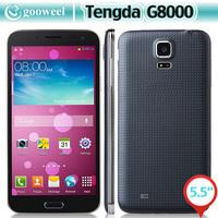 Tengda G8000 Smart phone MTK6582 5.5 Inch Android 4.2 1GB 4GB OTG Air Gesture 3G Cell phone - Black