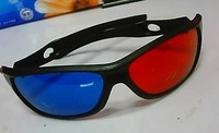Fashion  Red&Blue 3D glass ,308model,free shipping by HK Post air mail,NO Tracking Code,free shipping