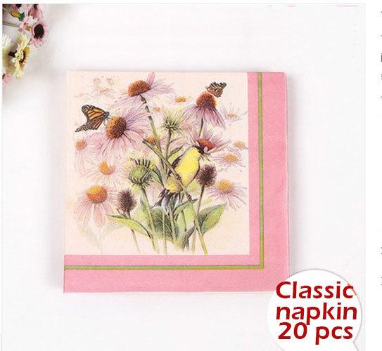 Popular butterfly serviettes aliexpress - Serviette table tissu ...